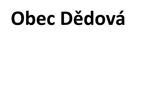 Obec Dědová